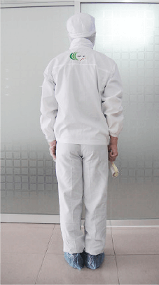 作業制服(後ろ)