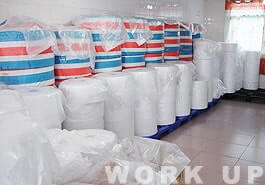不織布原料保管倉庫
