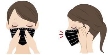 マスクの正しい装着方法3