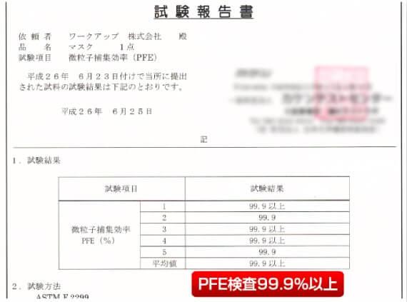 PFE検査99.9%以上