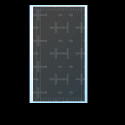 十字架マスク寸法図
