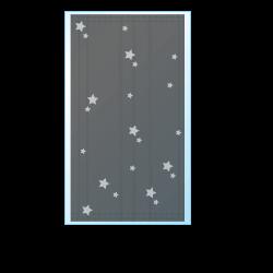 シルバー星柄マスク寸法図